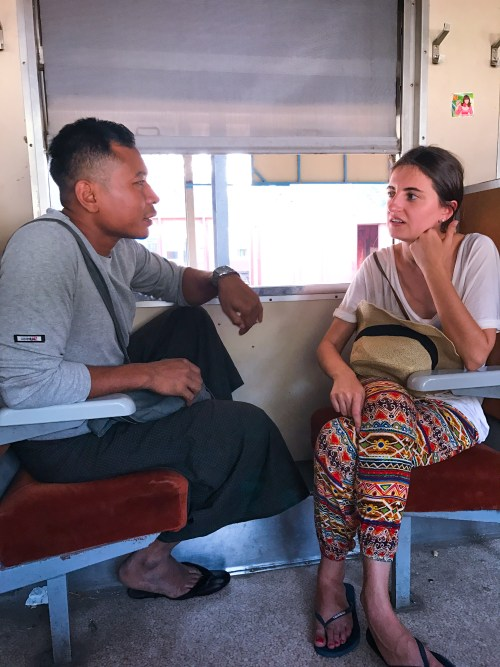 Meeting the local riders in Yangon Myanmar