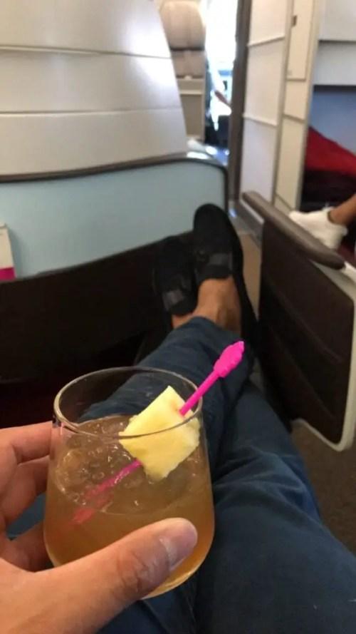 Hawaiian airlines business class mai tai