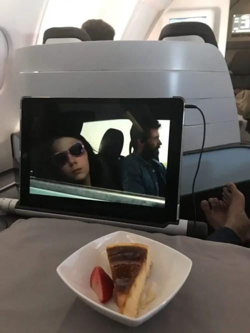 Hawaiian airlines in-flight dessert business class
