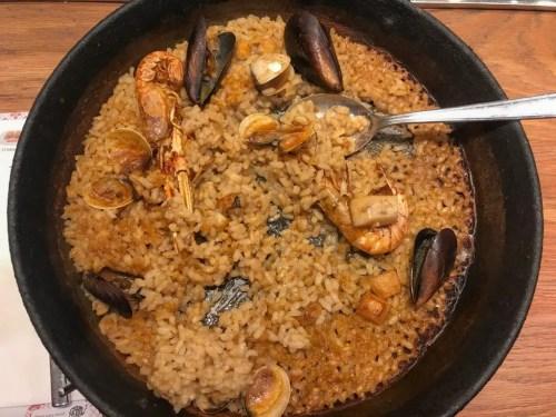 seafood paella tapa tapa