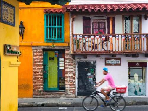Morning bike ride in Cartagena
