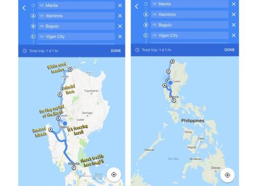 luzon map philippines bus route