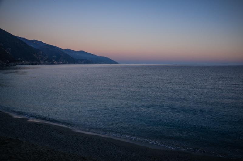 coucher de soleil monterosso cinque terre italie