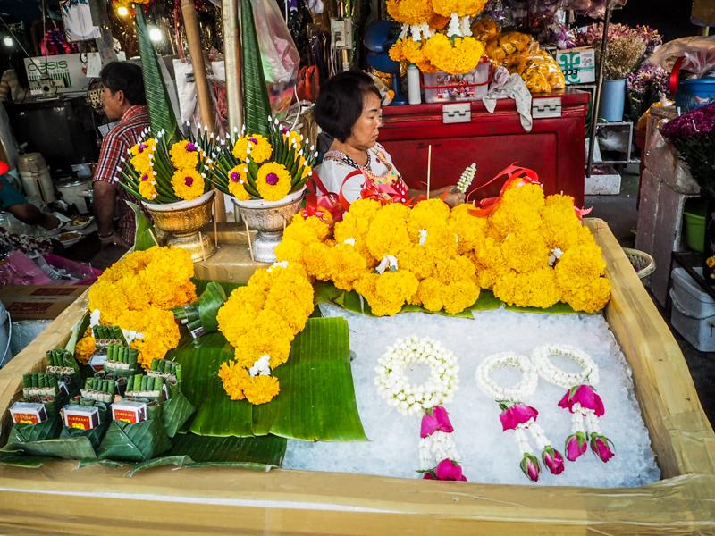 marché aux fleurs thailande chiang mai