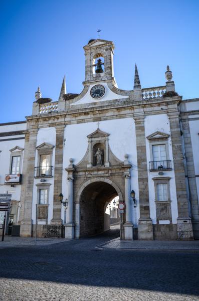 algarve porte de la vieille ville faro