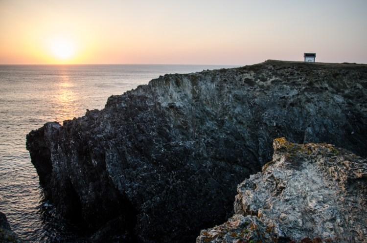 bretagne belle île coucher de soleil