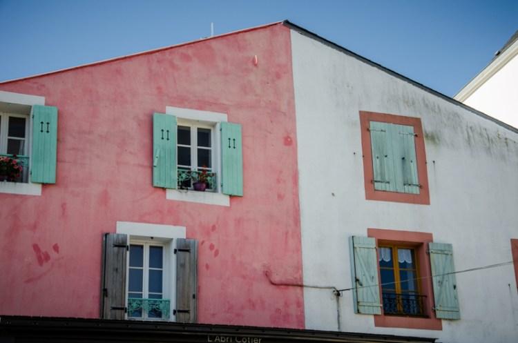 facades colorées sauzon