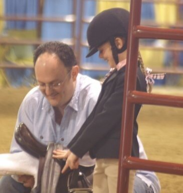My dad & I at a horse show when I was just a little one