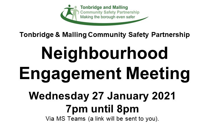 Neighbourhood Engagement Meeting 27th January 2021 - 7pm