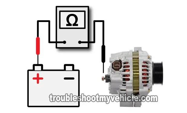 part 2 how to test the alternator 20012005 17l honda civic