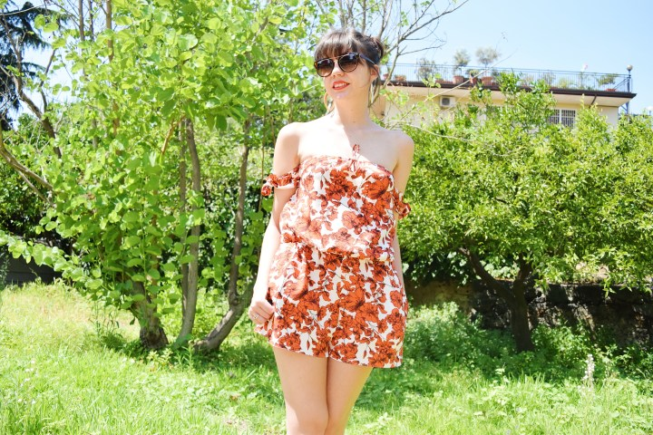 DIY The flower playsuit.