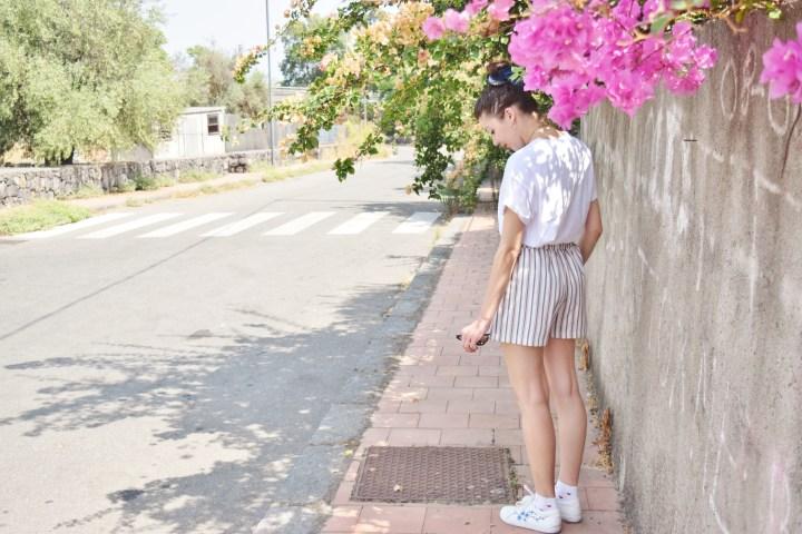 Look short rayé 006