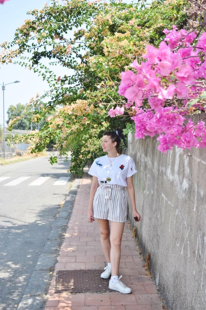 Look short rayé 010