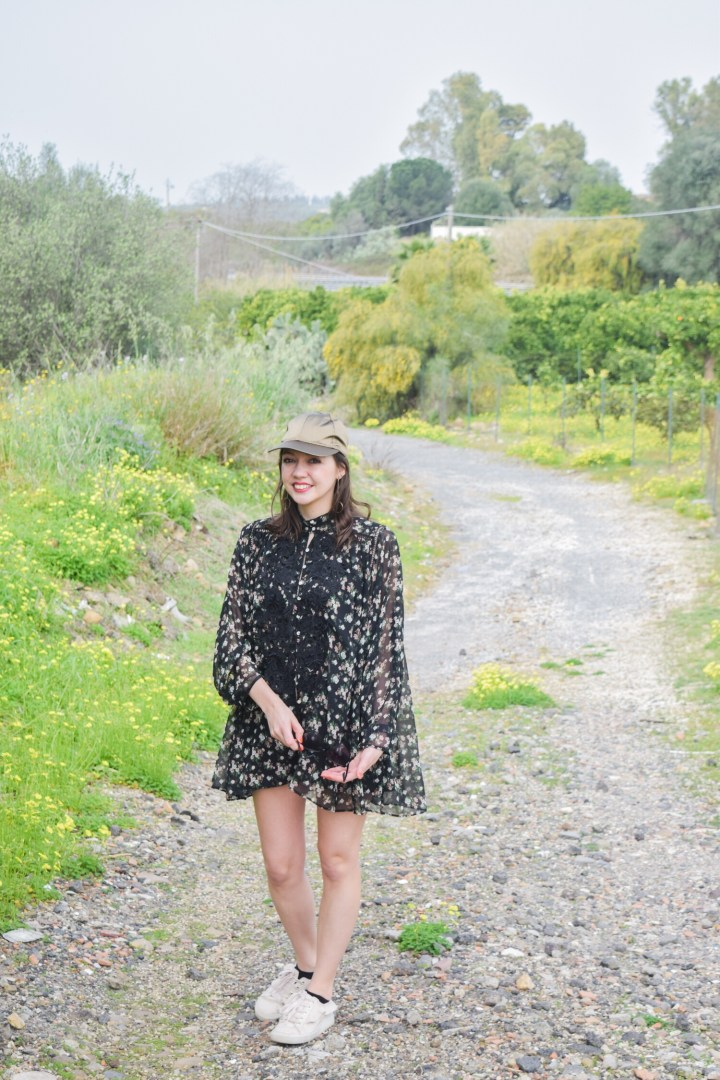 A flared flowers playsuit.