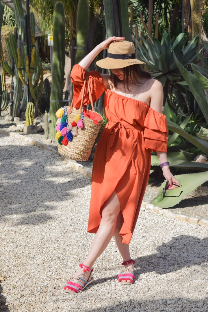 A perfect Zaful orange summer dress.
