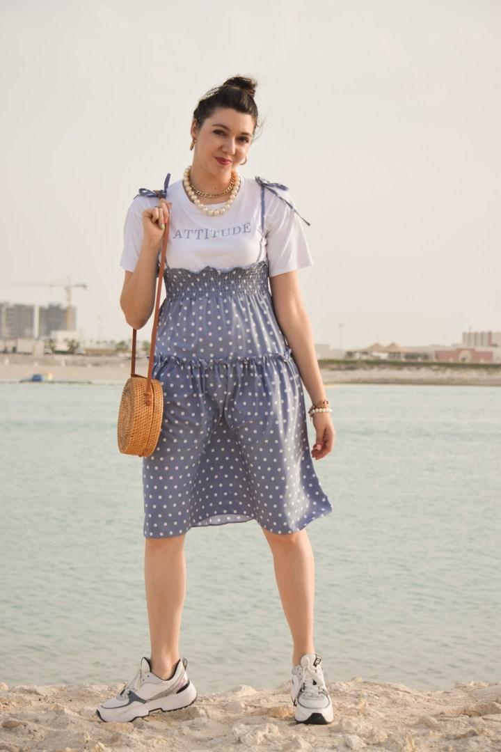 Dot blue dress8