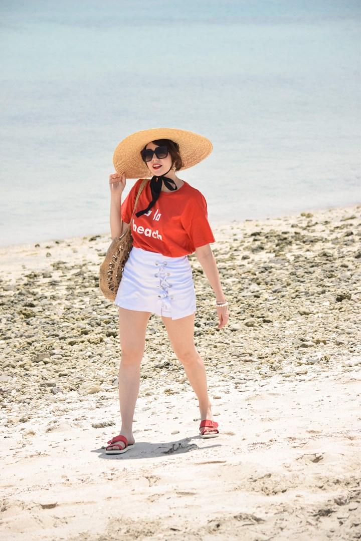 A la beach
