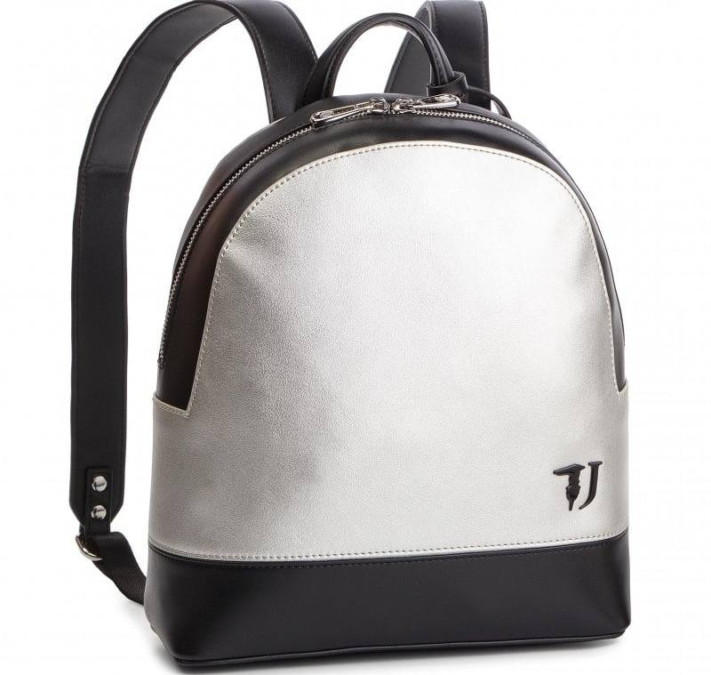 TRUSSARDI Jeans 75B00665 M630 T-EASY CITY BACKPACK MD SILVER METAL