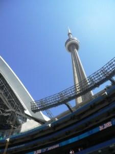 Catching a game under the CN tower