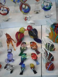 Hand blown glass from the Island of Murano