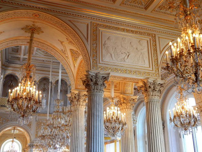 Inside of the Hermitage, a sea of chandilliers, Saint Petersburg