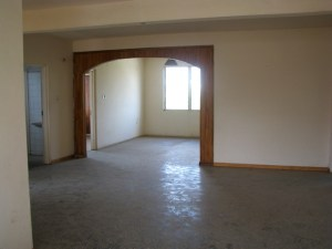 Upstairs living room and dining room