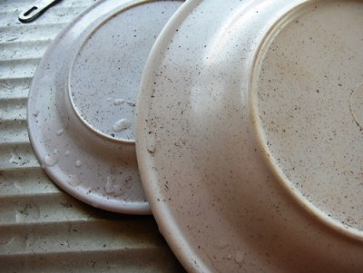 Salt and peppered breakfast dishes