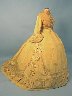 Dress Paris Yellow promenade c 1868 AA