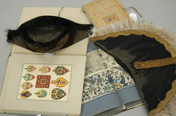 Les Tissus Indiens du Vieux Perou by R & M Harcourt; Broderies Chinoises, and Tapissieries et Etoffes Coptes KT 08