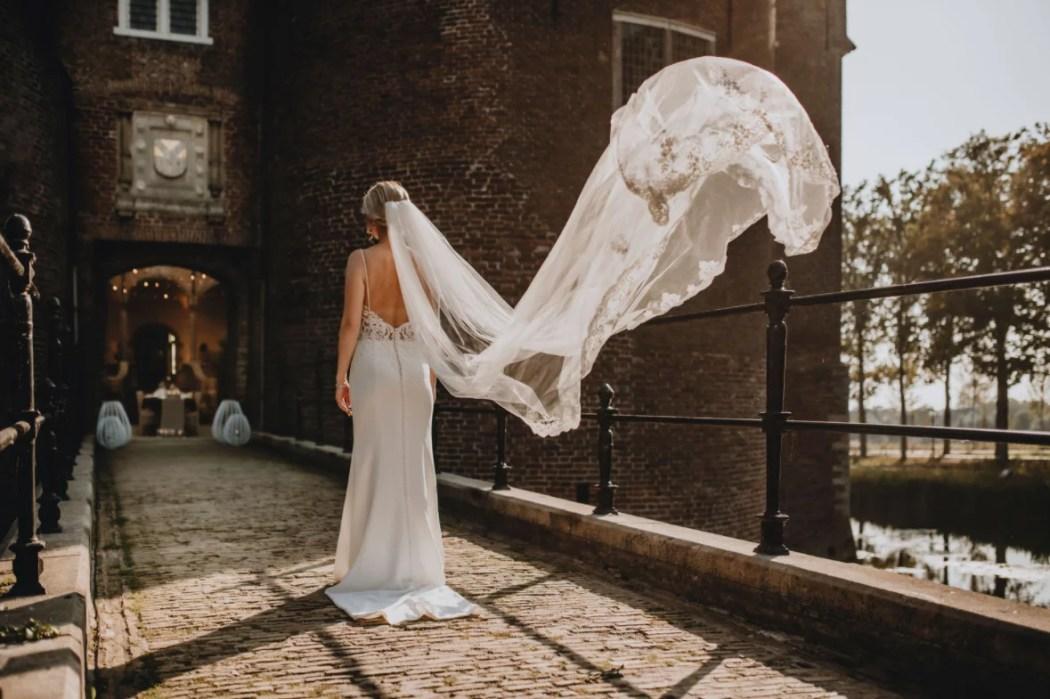 castle wedding bride
