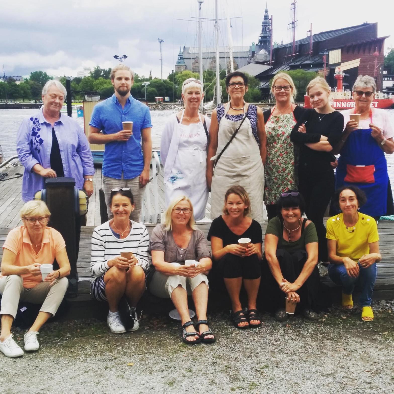 Akvarellkurs en gruppbild på Skeppsholmens folkhögskola