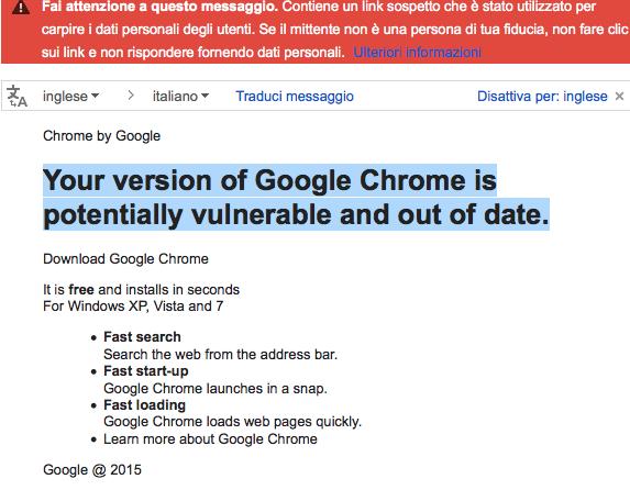 Diffusa una versione di Google Chrome infetta da un malware (News)