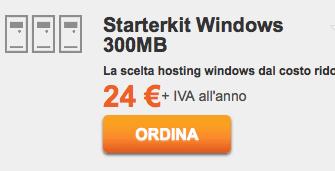 Dettagli offerta: ServerPlan StarterKit Windows (hosting ASP .NET, supporta HTTPS gratuito)