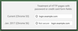 """Se il tuo sito non usa HTTPS, Google Chrome lo etichetta come """"insicuro"""""""