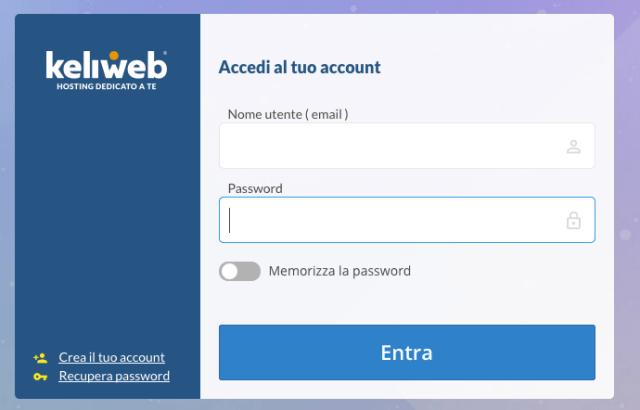 Come si accede al pannello di controllo del mio sito su Keliweb (Guide, Assistenza Tecnica)