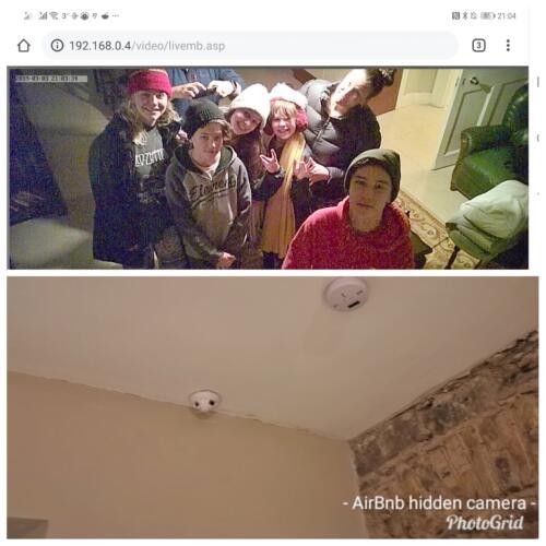 Ospite di Airbnb scopre una telecamera di sorveglianza nascosta (News)