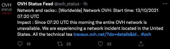 OVH down del 13 ottobre: cosa succede (News, Nuove tecnologie)