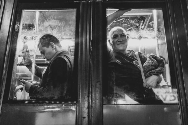 street photography through window