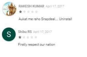 Some Indian users have been mistakenly rating Snapdeal 1-star instead of Snapchat.