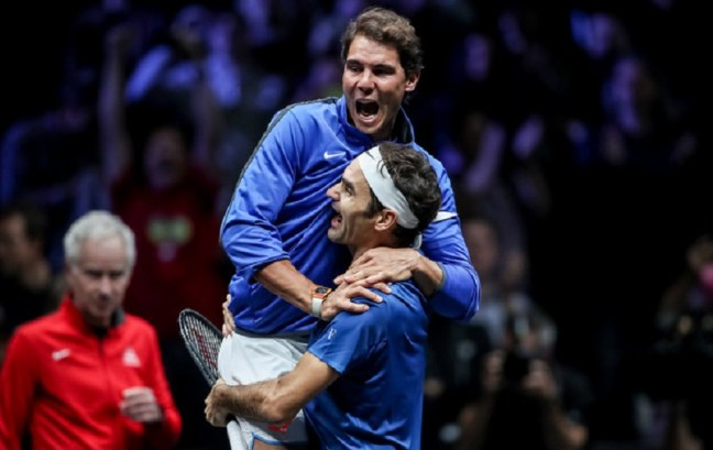 Federer and Nadal at Laver Cup