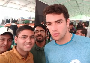 Reflections of a tennis fan watching a live tennis match for the first time - selfie with Matteo Berrettini
