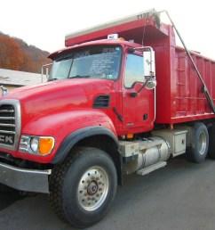 make mack model cv713 type tri axle dump truck motor mack ami 4 valve elec 370 hp wetline to operate dump body air to air yes [ 1024 x 768 Pixel ]