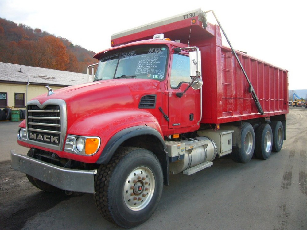 medium resolution of make mack model cv713 type tri axle dump truck motor mack ami 4 valve elec 370 hp wetline to operate dump body air to air yes