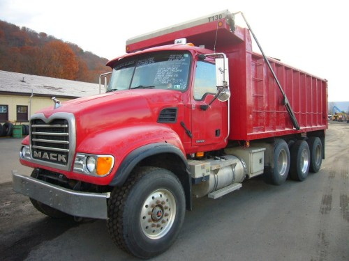 small resolution of make mack model cv713 type tri axle dump truck motor mack ami 4 valve elec 370 hp wetline to operate dump body air to air yes