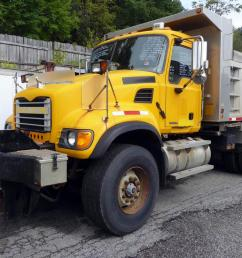 model cv713 type tandem axle aluminum dump truck motor mack ai elec 350 hp engine brake jake air to air yes air conditioning yes transmission fuller  [ 1200 x 800 Pixel ]