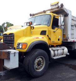 make mack model cv713 type tandem axle aluminum dump truck motor mack ai elec 350 hp engine brake jake air to air yes [ 1200 x 800 Pixel ]