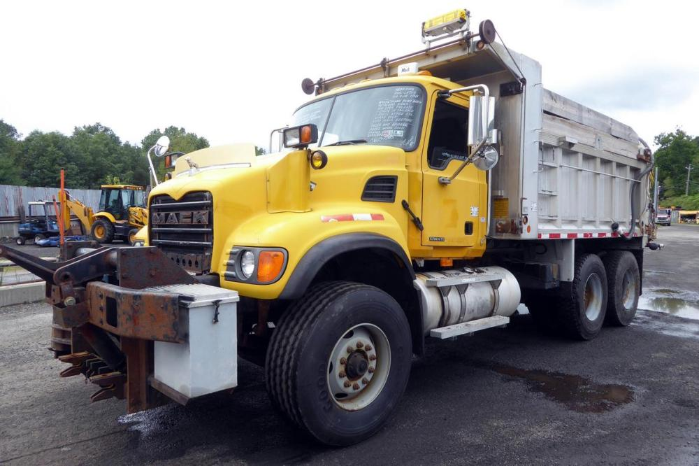medium resolution of make mack model cv713 type tandem axle aluminum dump truck motor mack ai elec 350 hp engine brake jake air to air yes
