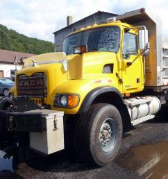 make mack model cv713 type tandem axle aluminum dump truck motor mack ami elec 370 hp engine brake electronic air to air yes [ 1200 x 800 Pixel ]