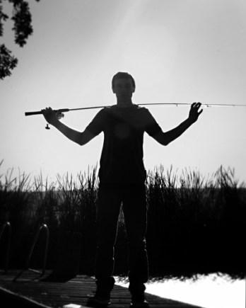 2016 senior guy with fishing pole