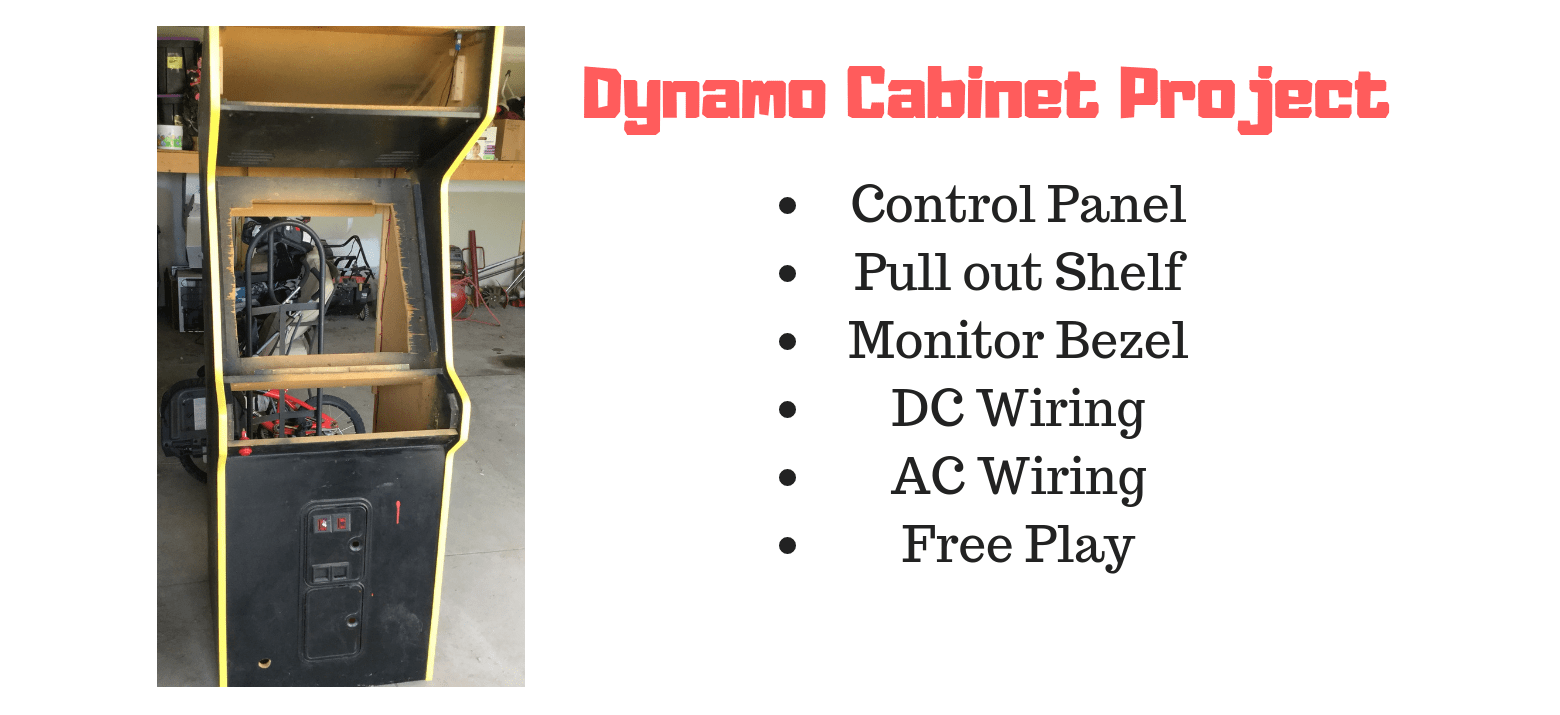 hight resolution of building and wiring an arcade from an empty dynamo cabinet